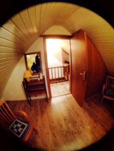Televízia a/alebo spoločenská miestnosť v ubytovaní Ferienhaus Leitner