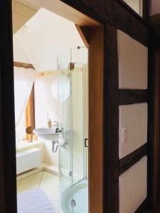 Ein Badezimmer in der Unterkunft Ferienhaus im Bauerngarten