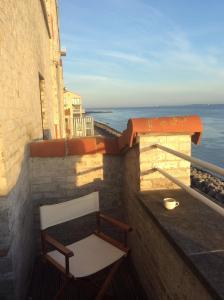 Een balkon of terras bij Port Scaldis Apartment