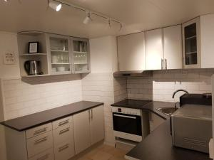 A kitchen or kitchenette at Hanevold Homestay