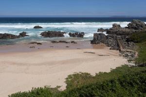 A beach at or near the chalet