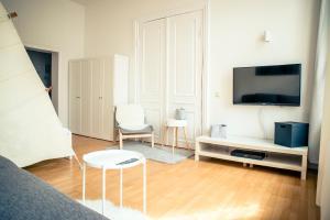 TV/Unterhaltungsangebot in der Unterkunft Schwerin City Apartment