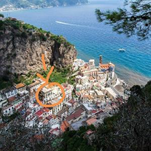 A bird's-eye view of La casa del capitano