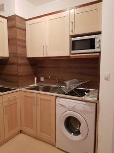 A kitchen or kitchenette at Bansko Belvedere Apartment