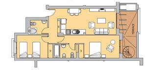 The floor plan of The Greens