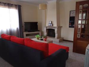 A seating area at Apartamento Arosa