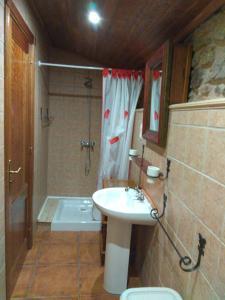 A bathroom at Casa Ruso