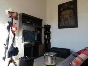 Una televisión o centro de entretenimiento en Mario's apartment