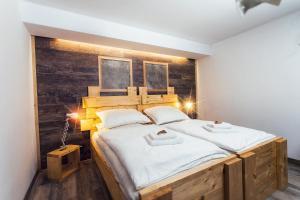 Postel nebo postele na pokoji v ubytování Kopec 67