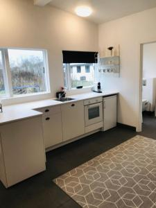 A kitchen or kitchenette at Beautyful suit near down town Selfoss, Iceland