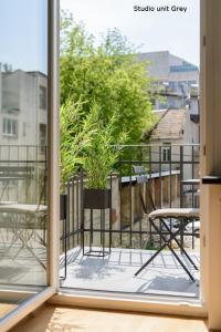 A balcony or terrace at Prestige Apartments Ljubljana