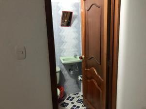 A bathroom at HABITACIÓN INDEPENDIENTE CAMINO REAL-