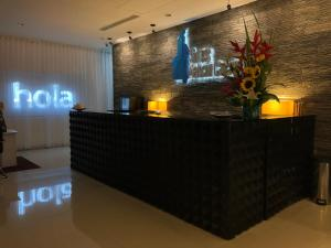 The lobby or reception area at Suites Malecon Cancun