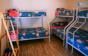 A bunk bed or bunk beds in a room at Life's a Beach Ky Co Summer House