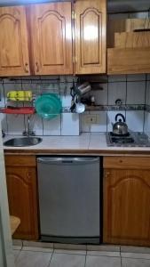 Una cocina o kitchenette en DEPARTAMENTO TURISTICO BARILOCHE CENTRO