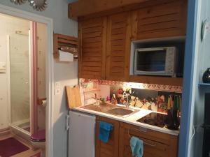 Cuisine ou kitchenette dans l'établissement Mon Petit Paradis