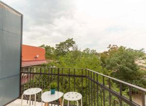 A balcony or terrace at Gallery B11 Sofia Downtown Apartment
