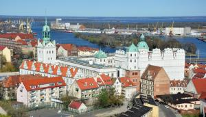 A bird's-eye view of Szczecin Old Town Apartments - 2 Bedrooms Deluxe