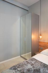 Posteľ alebo postele v izbe v ubytovaní St. Mark's Boutique Apartment Zagreb