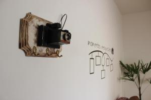 A television and/or entertainment centre at Ótimo apartamento