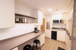 A kitchen or kitchenette at Whistler Lake Placid Apartment