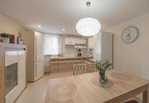 A kitchen or kitchenette at Apartament Przy Lesie