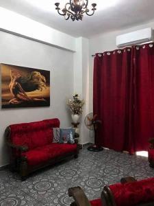 O zonă de relaxare la Apartament Rosario