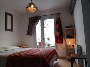 Una cama o camas en una habitación de La terracita de paso
