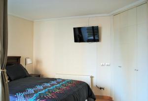 Cama o camas de una habitación en Studio Apartment En Providencia
