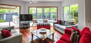 A seating area at Four Mile Beach Retreat