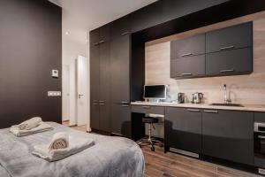 Kuchyňa alebo kuchynka v ubytovaní NEW Apartment -Near dancing house Prague #2
