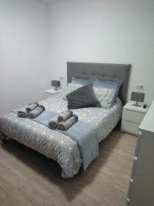Cama o camas de una habitación en Casa Luna