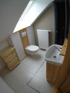 Kúpeľňa v ubytovaní Apartmány Dúbrava