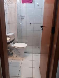 A bathroom at Flat em Thermas Paradise