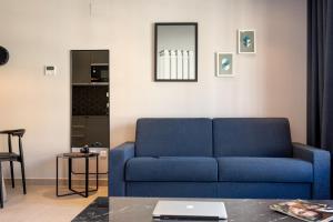 A seating area at Ramirez Flats & Bar
