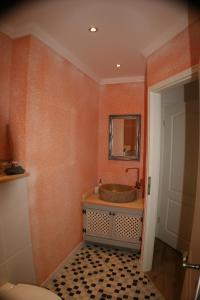 Ein Badezimmer in der Unterkunft Ferienwohnung am Wehlenbach