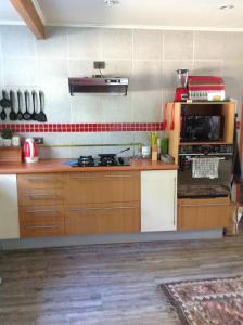 Una cocina o zona de cocina en Espectacular Casa Pucon 10 personas