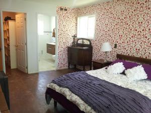 Cama o camas de una habitación en Espectacular Casa Pucon 10 personas
