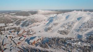A bird's-eye view of Ruka Ski Chalets