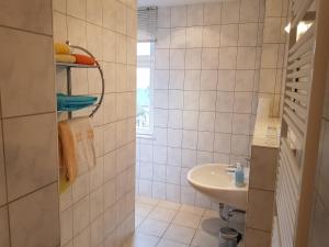 Baðherbergi á Apartments Zum Glasmacher