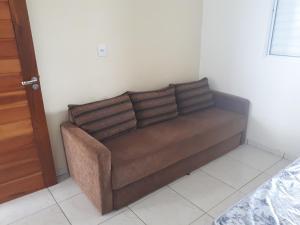 A seating area at Casa Ipê florido