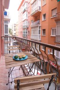 Een balkon of terras bij Flat Soho Málaga Center with Balcony