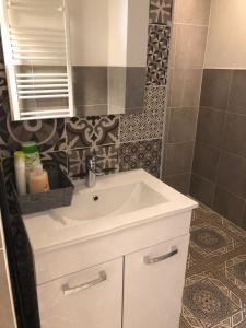 Ein Badezimmer in der Unterkunft Stil und Komfort! Deluxe Apartment!