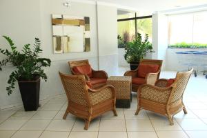 The lobby or reception area at Residencial Thermas Paradise