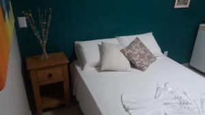 Cama o camas de una habitación en Casa em Santo Antônio de Lisboa