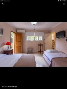 Säng eller sängar i ett rum på Villa Barbara