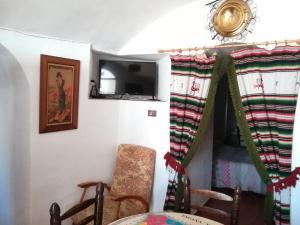 A seating area at Cuevas de María