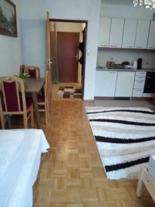 Küche/Küchenzeile in der Unterkunft Кleine gemütliche Wohnung im Zentrum von Salzburg