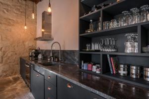 Kjøkken eller kjøkkenkrok på Boutique Villa Kalliope