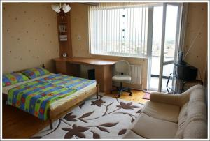 Cama ou camas em um quarto em Villa Doris
